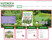 Tablet Preview of natuerlich-gaertnern.de